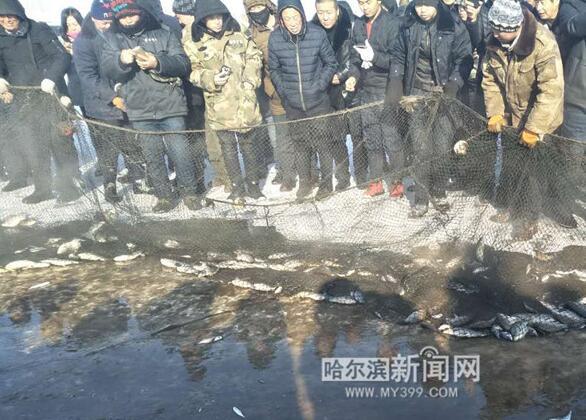 冬捕搅热卫星湖 木兰县大贵镇向前村打造农家新乐园