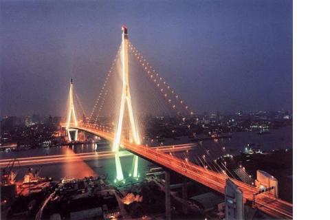 建成后的杨浦大桥