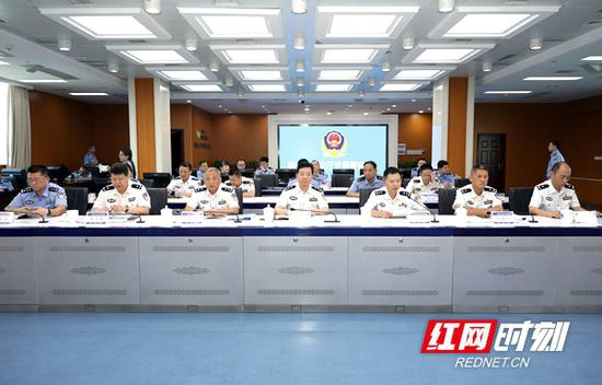 """""""奋战四十天 平安迎国庆""""交通安全集中整治行动动员部署视频会议召开。"""