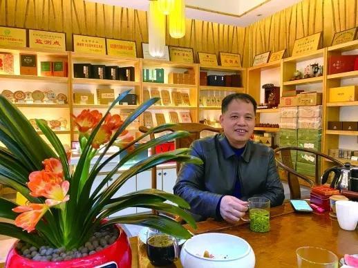 2月28日,南岩轩茶庄正式恢复卖场营业,林金笔静待客来。