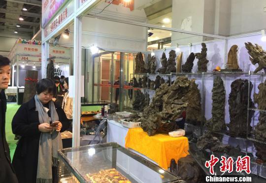观众在一家越南展商展区前驻足。 向一鹏 摄