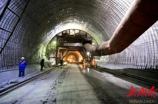 ▲夏家堡隧道