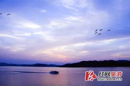 入选湖南省2017年文明风景旅游区的水府旅游区。资料图