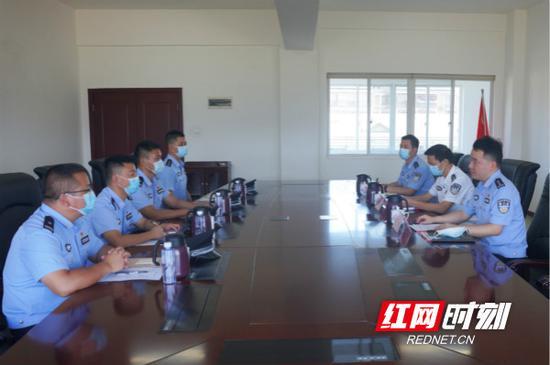 湖南边检总站召开从边疆调入湖南干部欢迎会。通讯员 郭锜潍 摄