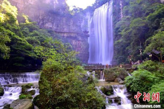 资料图:三峡大瀑布景区。 刘康 摄