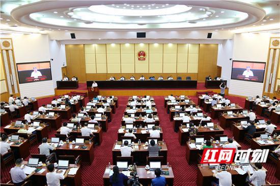 5月29日上午,湖南省十三届人大常委会第四次会议在长沙开幕。
