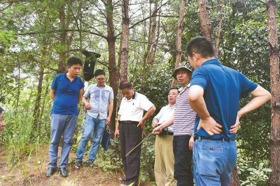 专家组在实地抽检 记者 王颖奇 摄