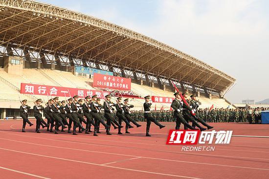 中南大学2018级新生开学典礼。