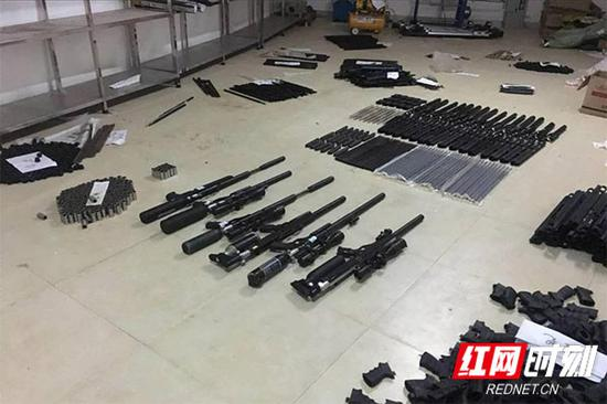 民警查获的非法枪支。