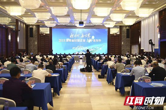 9月28日下午,2018湖南省民营企业100强名单在长沙发布。
