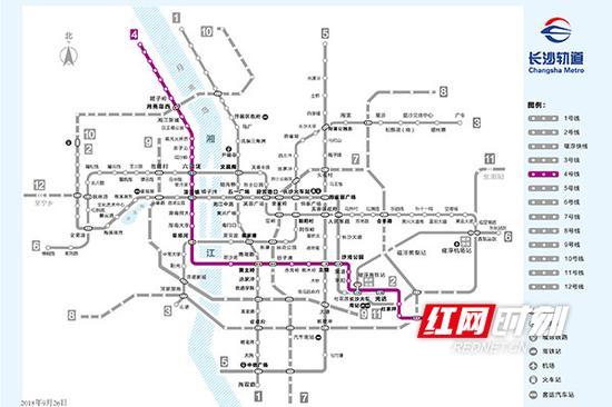 长沙地铁4号线走势图。