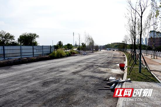 新马路(金桥路至宝庆路段)在进行施工。