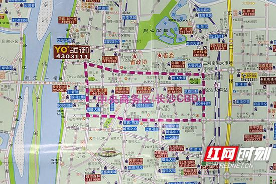 """2005年的城区楼市图上划出了""""中央商务区"""",框定的区域西至黄兴路,东西东站路,南至人民路,北至中山路、八一路。"""