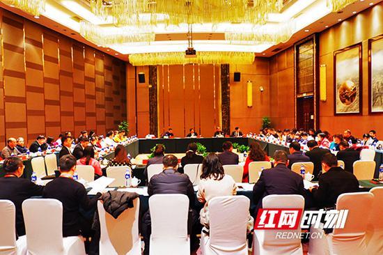 长沙各区县代表团分组会议。
