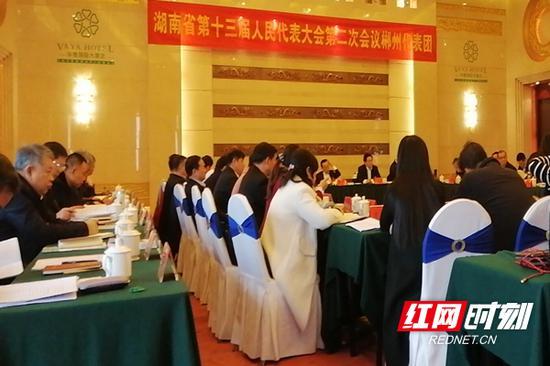 1月27日,郴州代表团审查省政府工作报告。