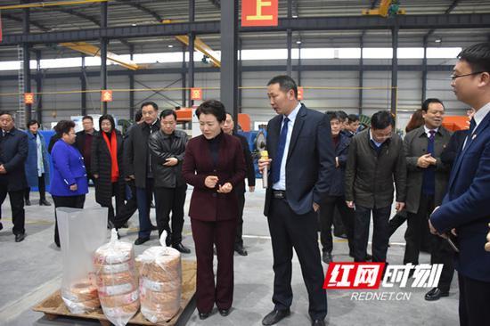 李晖、赵应云一行走访三湘电线电缆扩能项目。