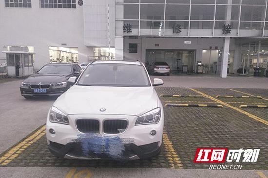 5月9日,长沙市民曾女士的宝马x1在长沙宝悦宝马汽车服务公司做保养。