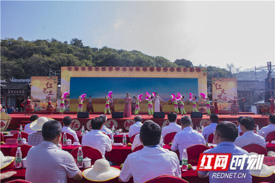 9月19日,2019年中国农民丰收节湖南主题活动郴州汝城分会场活动在汝城沙洲村举行。