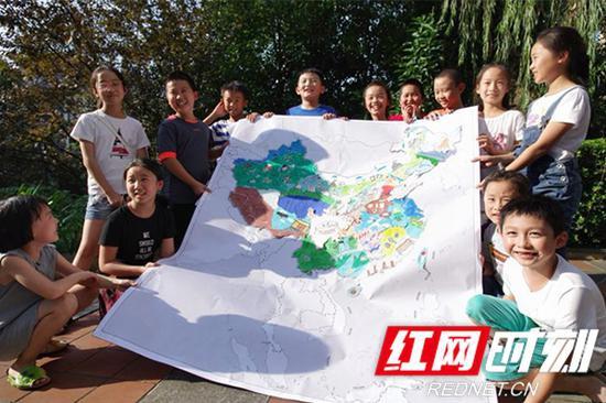 """自然资源厅举办""""湖南省少儿手绘地图大赛"""",开展第15个测绘法宣传日宣传。"""