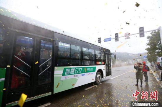 长沙智慧公交引发关注(资料图)。 杨华峰 摄