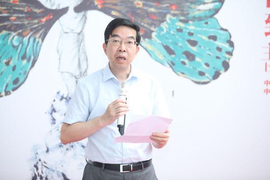 中国工程院院士、民进中央副主席、上海市政协副主席黄震致辞。