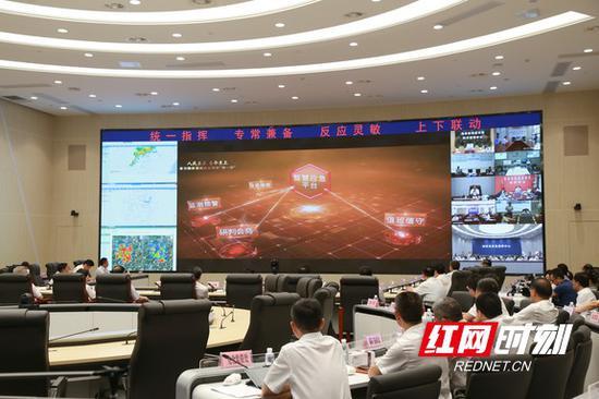 入汛以来,省防指在省应急指挥中心统筹谋划、科学调度,17次专题调度防汛备汛工作。