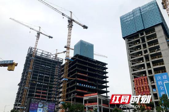 湖南创意设计总部大厦工程项A栋为PC装配式,装配率达到79%。