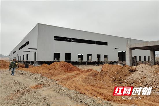 两栋厂房已经主体完工。