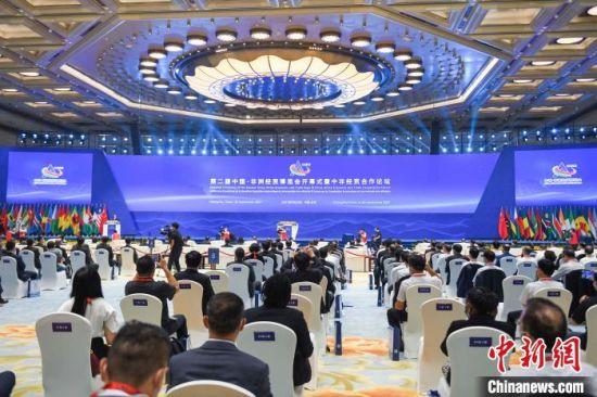 9月26日至29日,第二届中非经贸博览会在湖南长沙举行。 杨华峰 摄