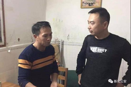 图左:罗某兵 图右:文田派出所副所长刘元芳