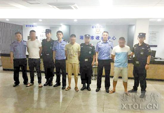 3名涉恶团伙成员被抓捕归案。(记者 刘建强 摄)