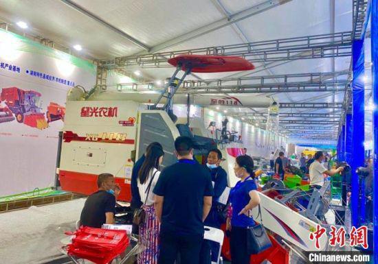 """本届""""湘博会""""吸引近700家企业参展。 唐勇平 摄"""