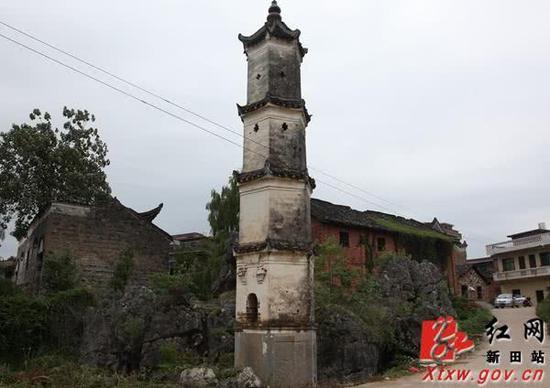 彭梓城村惜字塔。