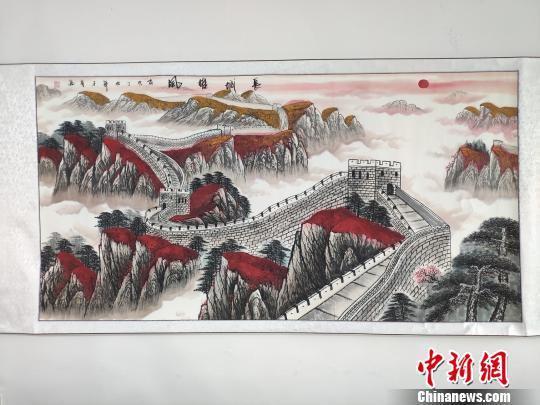 """""""农民画师""""作品。 王昊昊 摄"""