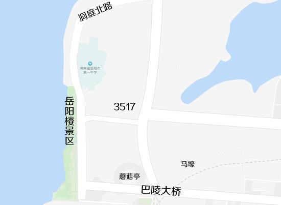 南起巴陵大桥北匝道,北接洞庭北路,从际华3517工厂中穿过……