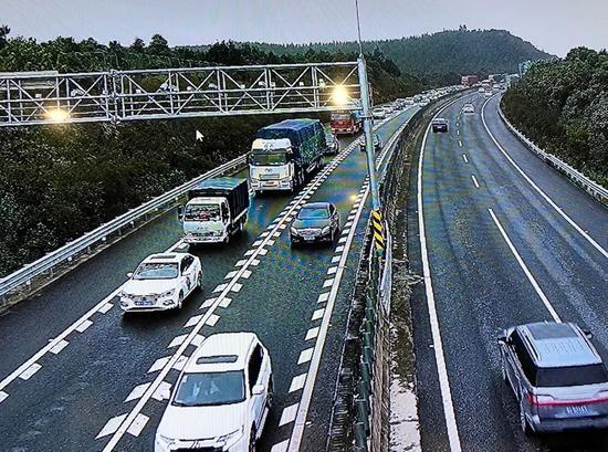 国庆长假第三日 湖南高速路网流量仍然居高不下