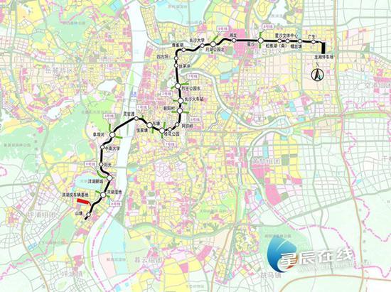 (长沙地铁3号线线路图。资料图)