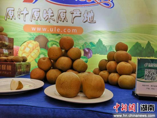 湖南农特产品展示。
