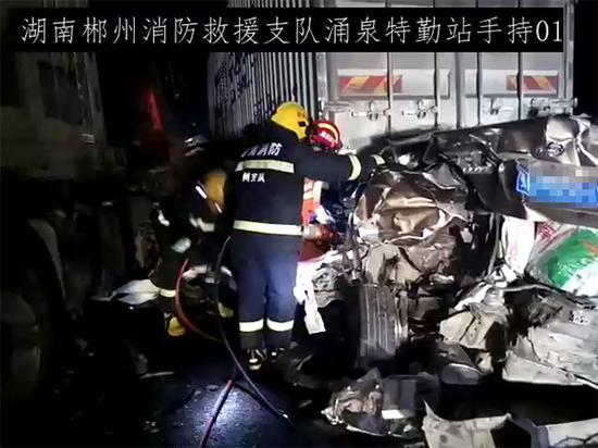 救援现场 本文图均为 郴州消防 供图
