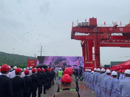 长株潭城际轨道交通西环线一期工程首台盾构始发