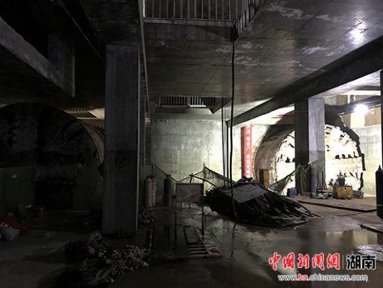 长沙地铁三号线施工风险最多区间双线洞通。