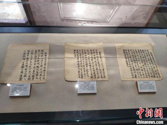 图为夏明翰写给其大姐、妻子、母亲的信。 王昊昊 摄