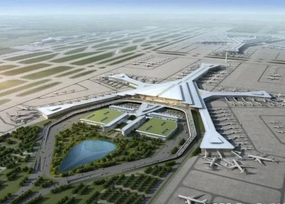 长沙机场改扩建工程设计效果图。资料图片。