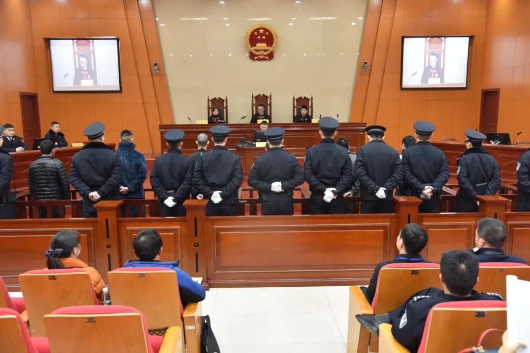 ◆王文学等20人涉恶集团二审宣判现场