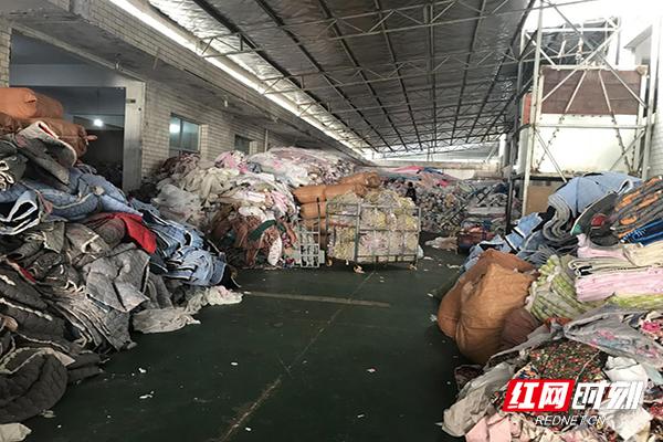 纤维制品质量执法专项行动中查处的不合格产品。
