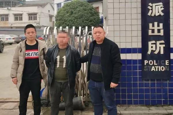▲抓获的犯罪嫌疑人