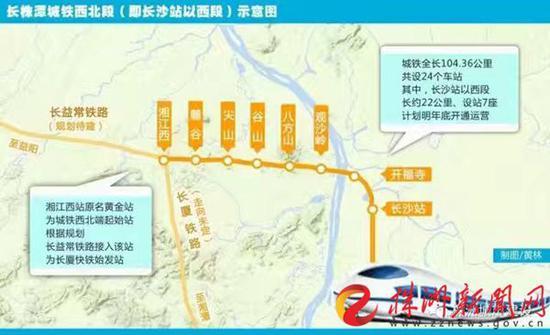 长株潭城铁西北段示意图
