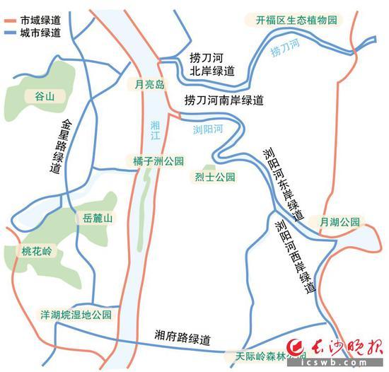 长沙市绿道建设规划(部分)制图/王斌