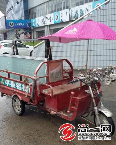 吴某未偷窃成功的电动三轮摩托车。尚一网记者 王浪 通讯员 赵波 摄