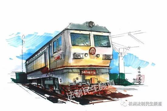 △(图片)凌郦婕作品 《大美株洲》之火车头广场